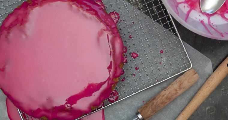 King size roze koek.