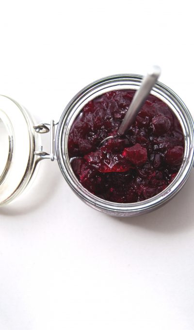 Cranberry compote.